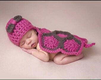 crochet Newborn Turtle Cape