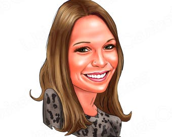 Cartoon Portrait from your Photo/ Bust portrait/  Custom Cartoon Portrait / for him , for her