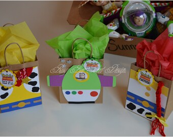 Toy Story Party Favor Bags / Woody Favor Bag / Jessie Favor Bag / Buzz Light Year Favor Bag