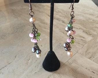 Clustered Dangling Earrings