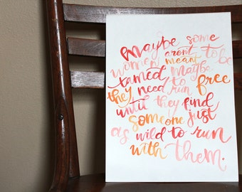 Ombre Quote Painting
