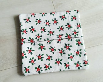 Holly Fabric Coaster