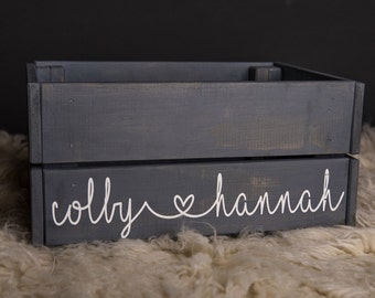 Personalized Wood Crate-Very Sturdy
