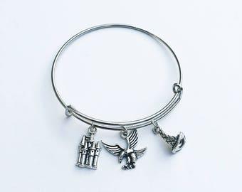 Harry Potter / Sorting Hat / Harry Potter House Inspired Charm Bracelet
