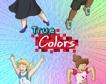 True Colors Explosion Print