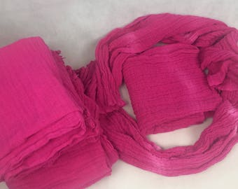 Cotton - muslin cloth in pink
