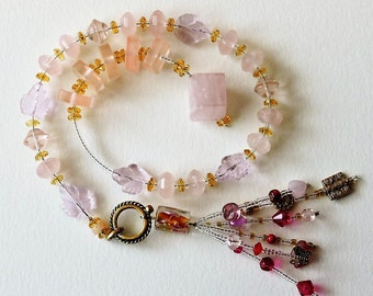 Rose Quartz Baha'i Prayer Beads
