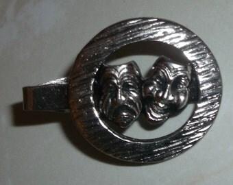 Vintage Comedy Tragedy Tie Clip
