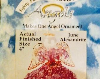 June Safety Pin - Birthstone Angel Kit