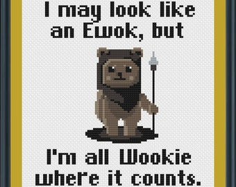 Ewok Cross Stitch Pattern (Star Wars Cross Stitch Pattern)