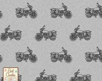 Girl Charlee Gray Vintage Motorcycle Knit