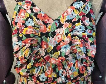 Original 1930s Flower Print Dress