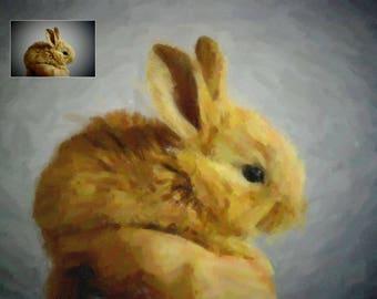 Custom rabbit portrait Oil Painting Custom Pet portrait Custom Pet Painting Original Painting Personalized Pet Portrait DIGITAL art