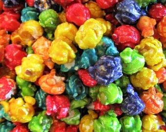 Gourmet Rainbow Candy Coated Popcorn by Its Delish (One Pound)