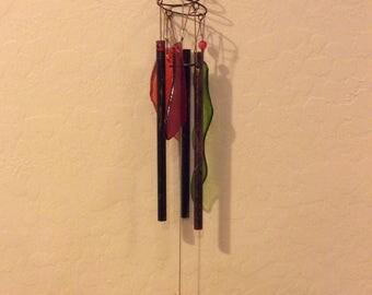 Cholla Cactus windchime with glass