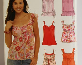 New Look/Simplicity #6562 misses' blouse pattern in 5 styles