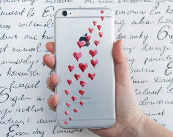 Hearts phone case, love phone case, iPhone 7, 7 Plus, IPhone 6s, iPhone 6s Plus, samsung galaxy case, girlfriend gift case, valentines day