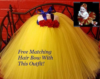 Snow White Baby Girl Tulle Party Dress