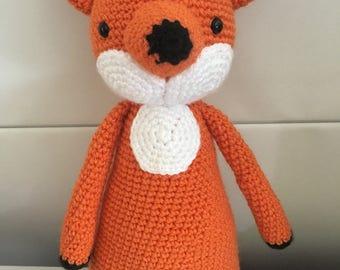 Crochet fox, toy fox, stuffed toy, amigurumi fox, nursery decor, forest animal, plush fox, crochet forest animal, woodland nursery decor