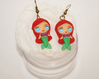 Mermaid earrings