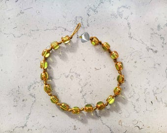 """Woman """"Grana"""" bracelet green water"""