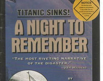 Titanic Sinks! A Night To Remember 2 Audio Cassettes by Walter Lord Read by Martin Jarvis