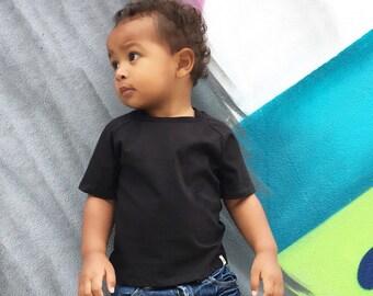 Black T-Shirt//Raglan T-shirt//Organic T-Shirt