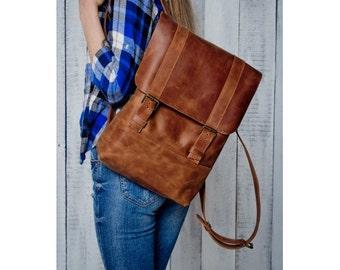 Leather backpack Leather rucksack Leather laptop bag Waterproof leather bag  Vintage Leather  School Backpack Hipster Bag Laptop Bag