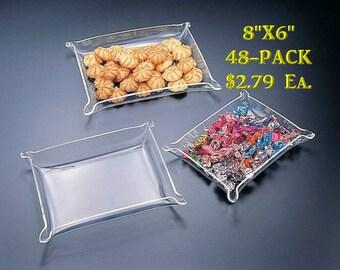 "Jewelry Tray - Acrylic 8"" x 6"" (48-Pack)"