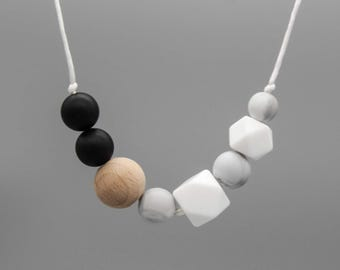 """Necklace / silent chain """"seattle"""" silicone wood jewelry"""