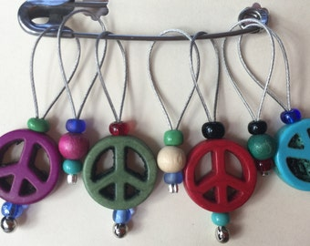 Specialty Stitch Markers - Peace or Skeletons