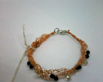 copper wire bracelet w/beads