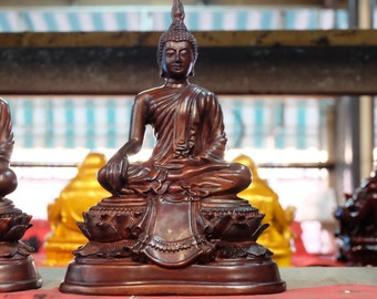 Resin sitting Buddha statue Sukhothai Art resine bouddha thai