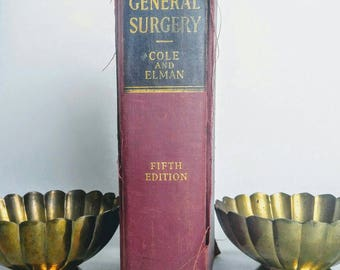 Textbook of general surgery, antiquarian book, old medical reference guide, old medical study books, paper ephemera, surgery book collection