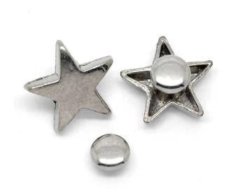 30 rivets, Star, Star, silver, ster rivets, 19538