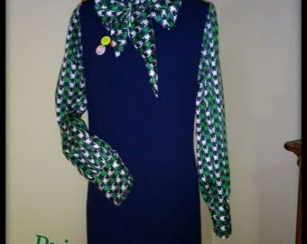 Tie neck dress