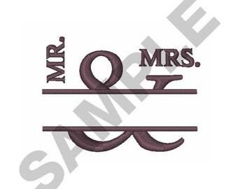 Wedding Name Drop - Machine Embroidery Design