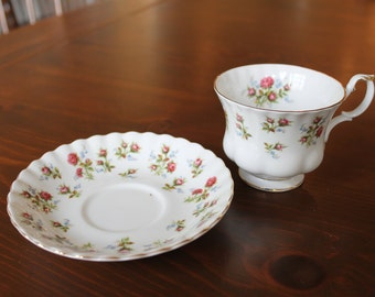 "Royal Albert china cup and saucer ""Winsome"" roses"