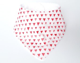 Baby Bandana Bib - Red Triangles