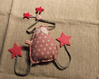 Doudou or decoration of room crapouille in cotton and felt