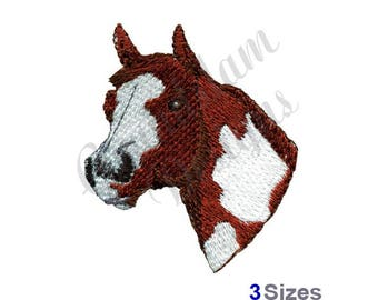 Painted Horse Head - Machine Embroidery Design