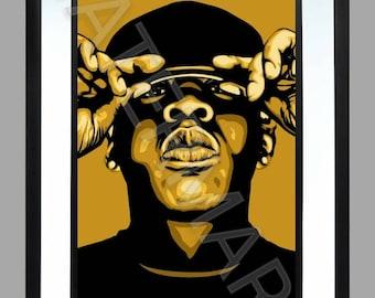 Jay Z .. A3 Print Graphic Art Poster . Rap . Hip Hop