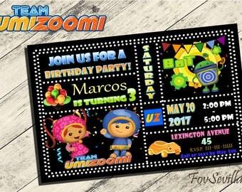 Team umizoomi invitation,team umizoomi birthday invitation,Team umizoomi Birthday party,partido team umizoomi,invitacion team umizoomi,umizo