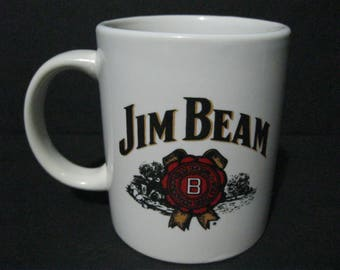 Jim Beam Whiskey Coffee Mug, Jim Beam Advertising Mug