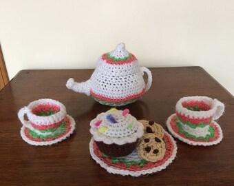 Hand Crocheted Tea Set