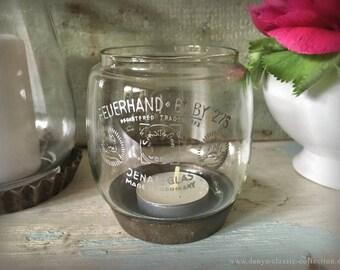 Feuerhand baby 275 storm glass kerosene lamp of lower vintage antique