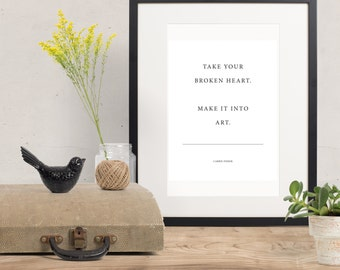 Inspirational Quote art - Carrie Fisher - printable art wall art - Instant Download - famous quotes - motivational print