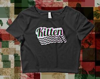 DDLG x Kitten Glitch print Crop Top 4/4 XS-L
