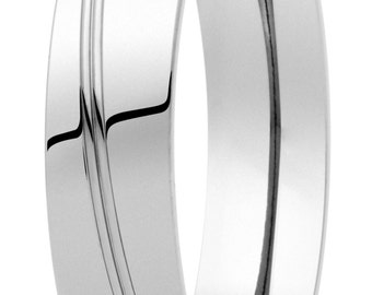 wedding ring shine made of pure titanium