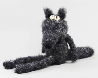 Wolf, Handmade wool animal figure